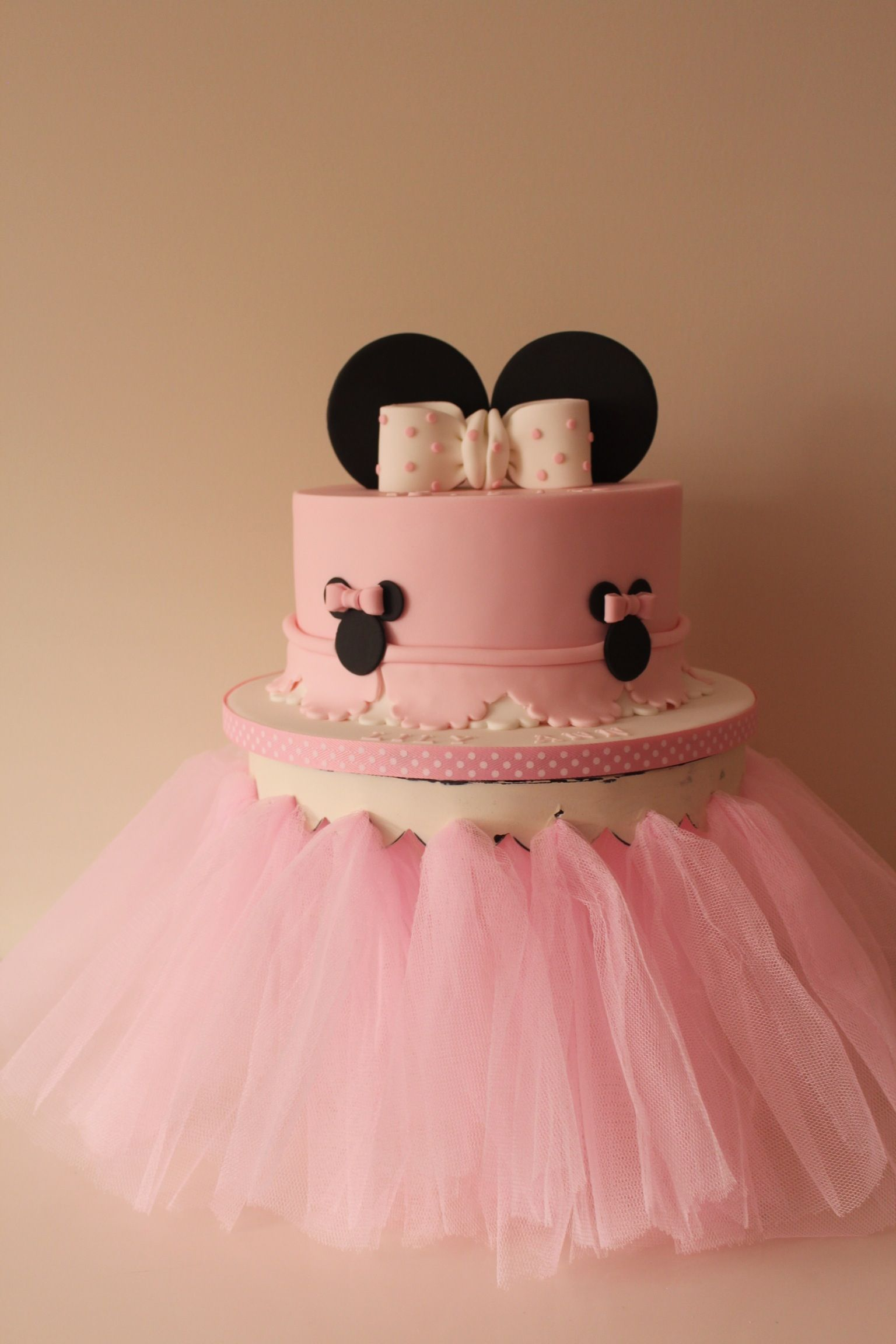 Minnie Mouse christening cake By tilly makes cake & Minnie Mouse christening cake By tilly makes cake | cake decorating ...