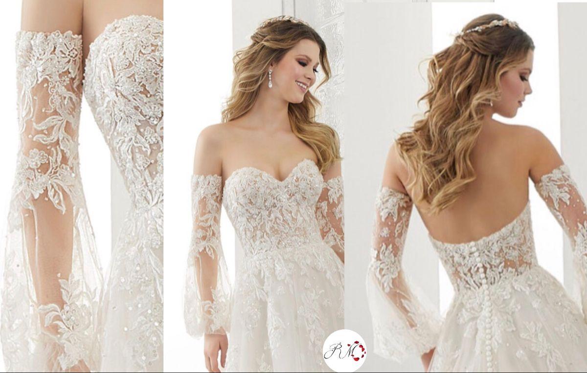 Detachable sleeves  Bridal wear, Wedding dresses lace, Custom bridal