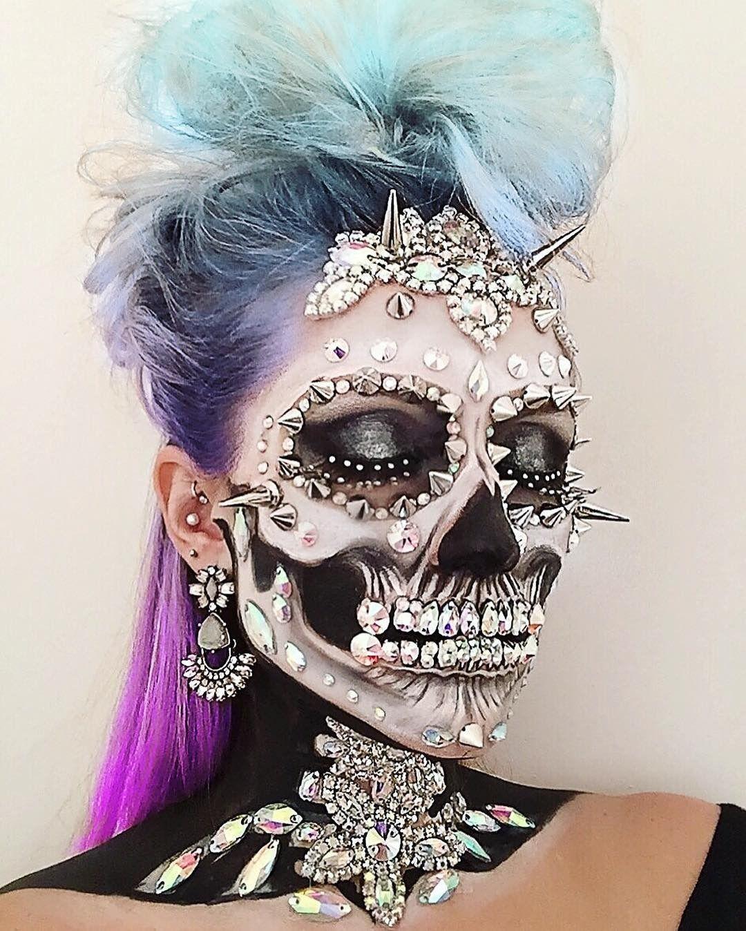 This MUA's Insane Skeleton Creations Are Winning Halloween