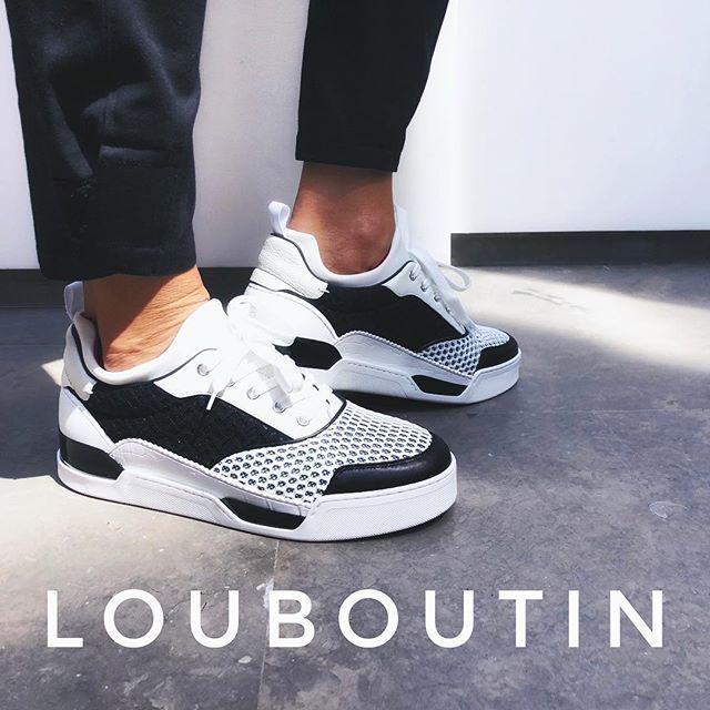 Aurelien#b\u0026w #louboutin#sneakers #ss18