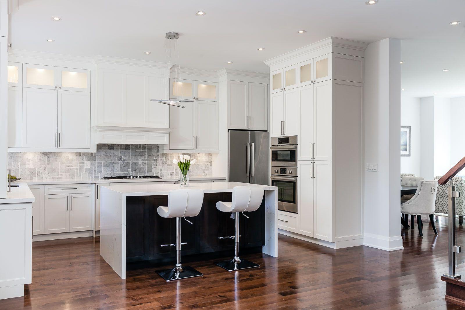 Hardwood flooring installed in kitchen hardwoodfloors