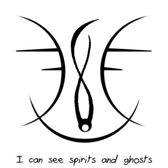 I Can See Spirits And Ghosts Wicca Pinterest Symbols Magick