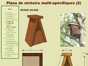 plan de nichoir oiseaux d r plans pour nichoirs. Black Bedroom Furniture Sets. Home Design Ideas