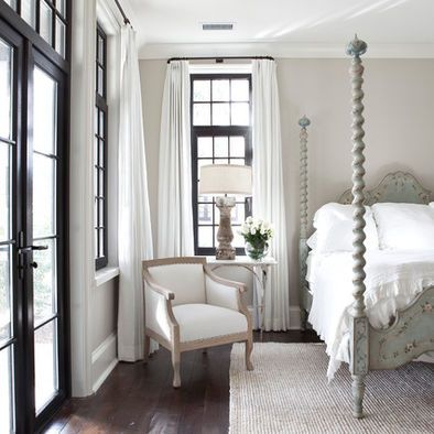 i love the black trim with the light taupe walls and white. Black Bedroom Furniture Sets. Home Design Ideas