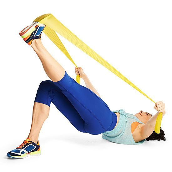 Do the Bridge Kick exercise to work your back, arms, abs, butt, and hamstrings all at the same time.