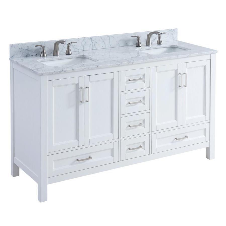 Double sink white bathroom vanities scott living durham white undermount double sink bathroom vanity