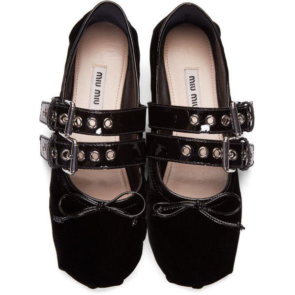 Miu Miu Arc Chaussures De Ballerine Bracelet - Noir SDlcZ