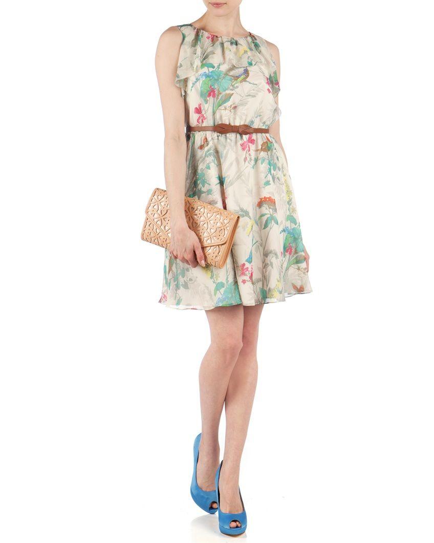 1fd0797968e Ted Baker - TIMOXA - Printed ruffle dress. Now £70