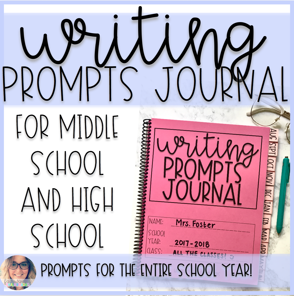 Year Long Weekly Writing Prompts Journal For Middle School