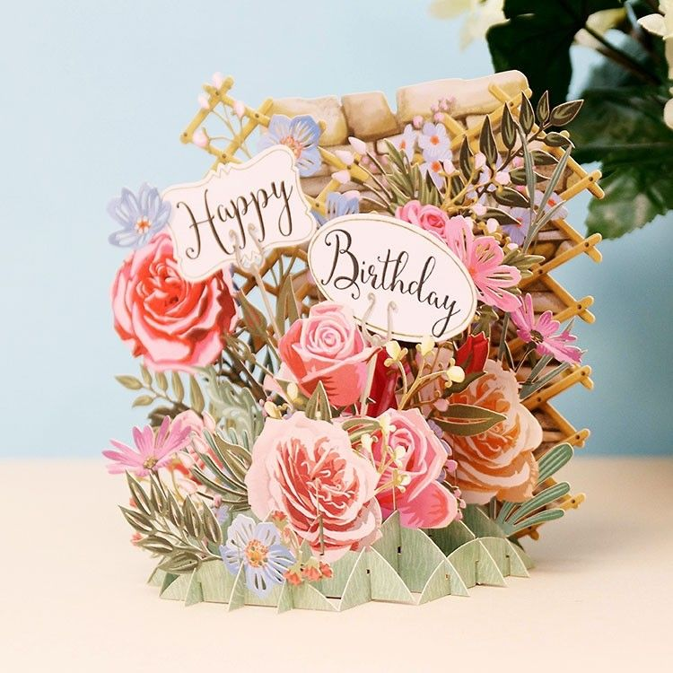 "MeAndMcQ ""Happy Birthday Flowers"" 3D Card Temptation"