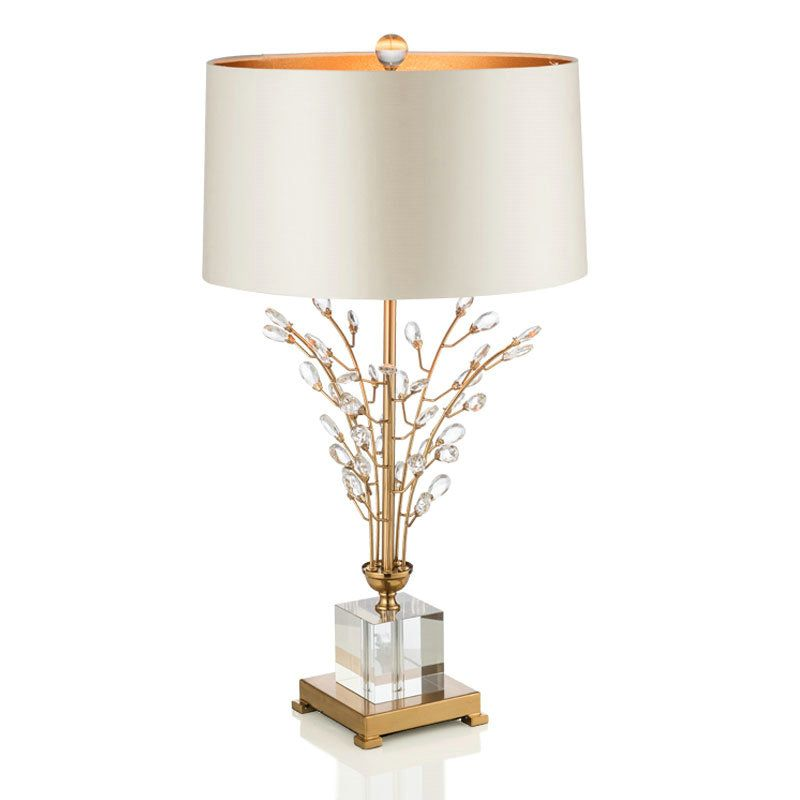 Contemporary Simple Table Lamp Iron Crystal Table Lamp Branch