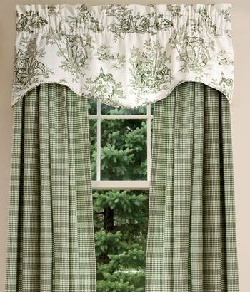 Toile Valances Lenoxdale Toile Curtains And Toile Bedding