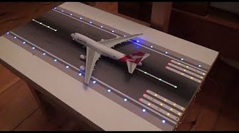 Home Made Model Airport With Lighting Toy Plane Airport Diy