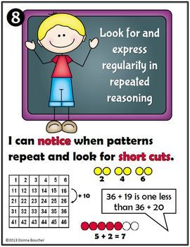 Math Coach S Corner Common Core Mathematical Practices Posters These Colorful Posters Illust Mathematical Practices Mathematical Practices Posters Math Coach