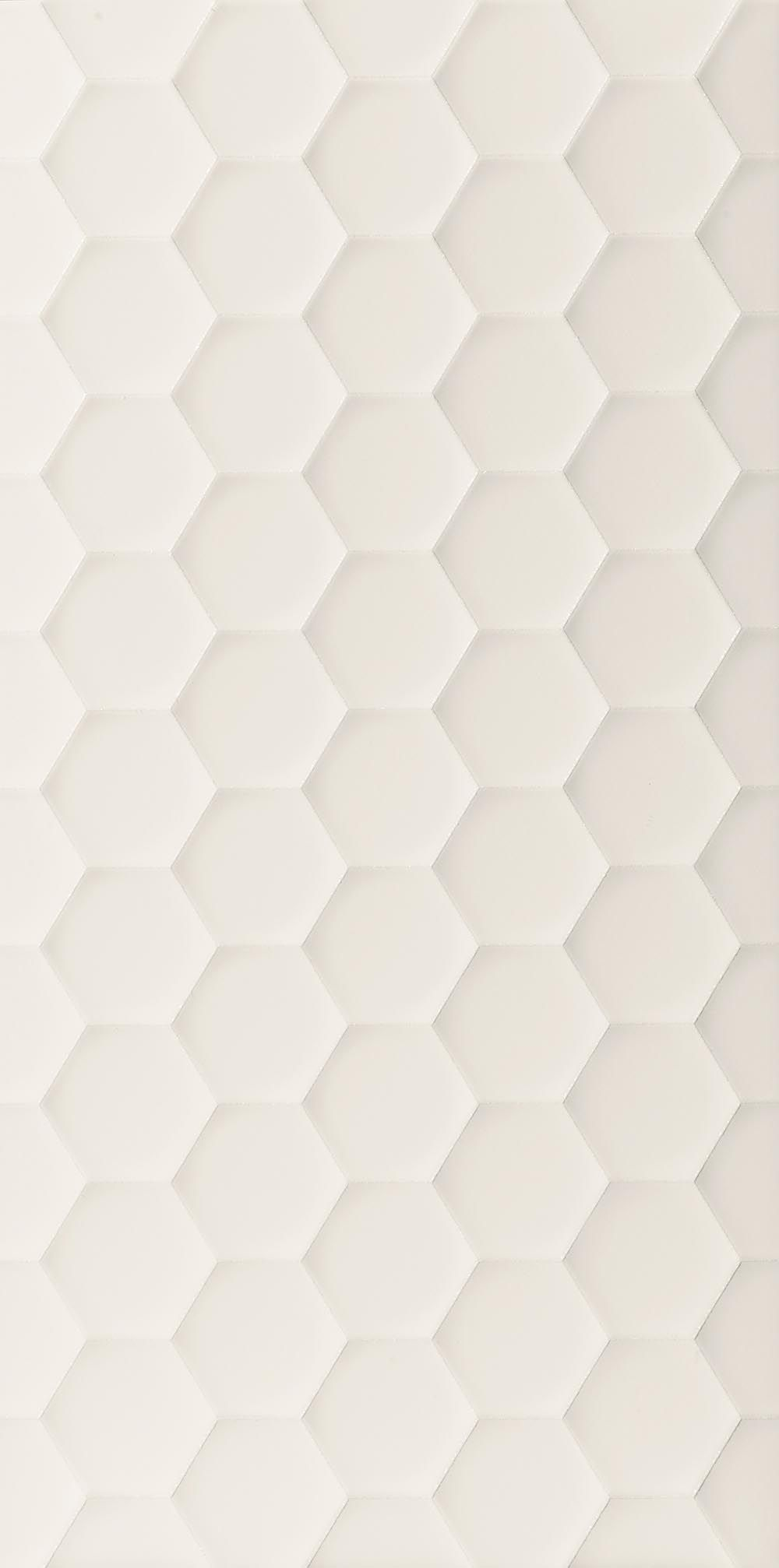 Multidimensional 3d Textured Ceramic Wall Tiles Hexagon White