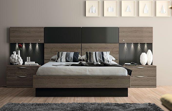 Dormitorio moderno acacia pizarra juegos de dormitorios - Muebles dormitorio moderno ...