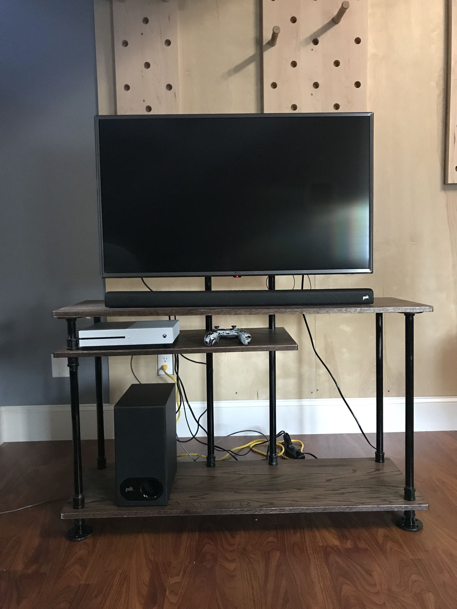 Custom Pipe Tv Stand For College Dorm Handmade Crafts Howto Diy