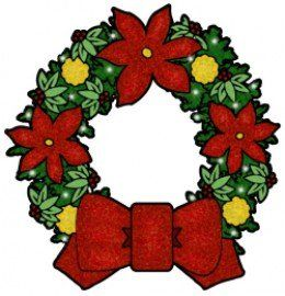 free christmas clip art images nativity wreaths trees more rh pinterest com christmas wreath clip art images christmas wreath clip art free images