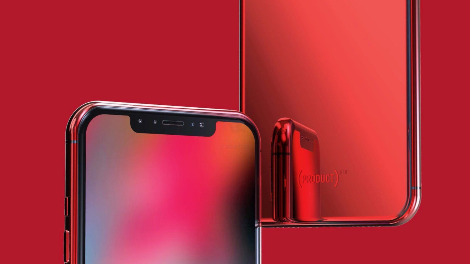 Concept imagines productred iphone x iphone x plus