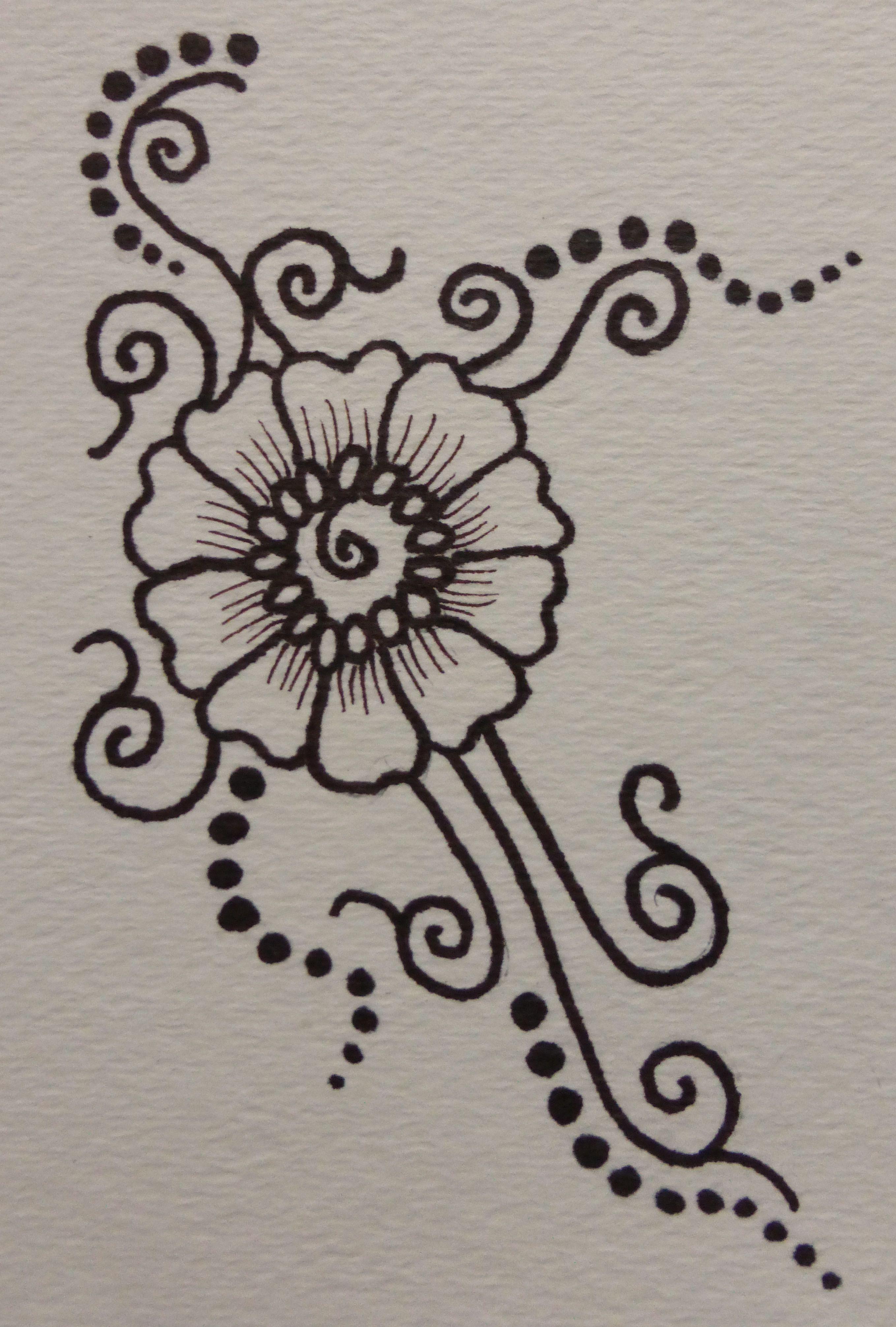 Картинки для срисовки мехенди легкие