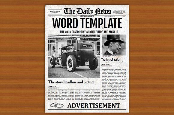 Microsoft Word Newspaper Template By Newspaper Designers On