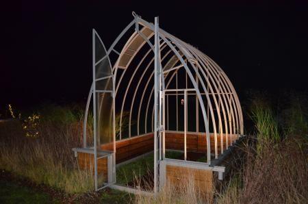 Serre l 39 ancienne soubassement en bois jardin serre jardin serre et jardins - Baraque de jardin ...