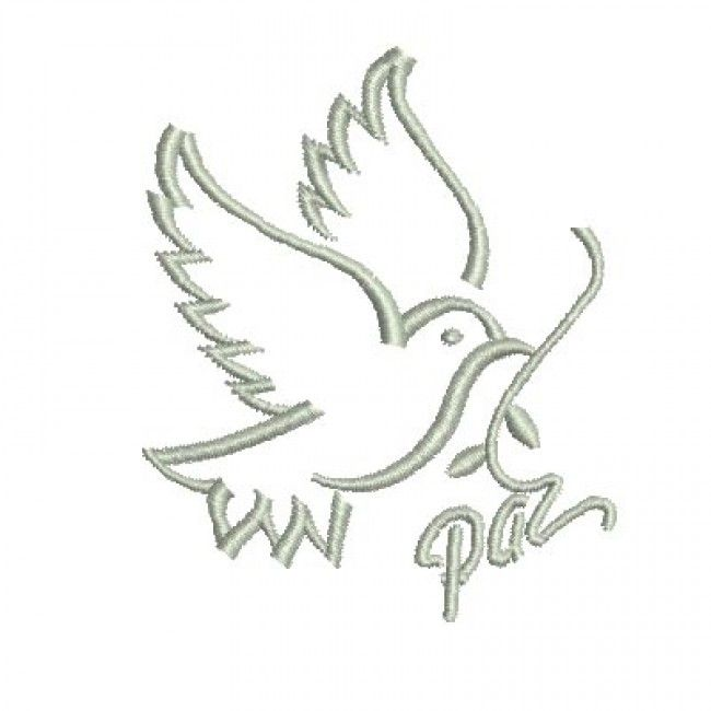 Pomba Da Paz 2 Sacral Embroidery Pomba Da Paz Bordado E