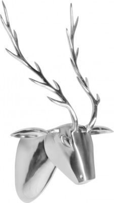 exklusive deko fur wohnzimmer, wohnling wohnling metall wand-dekoration rehkopf silber 58 x 46 x 23, Design ideen