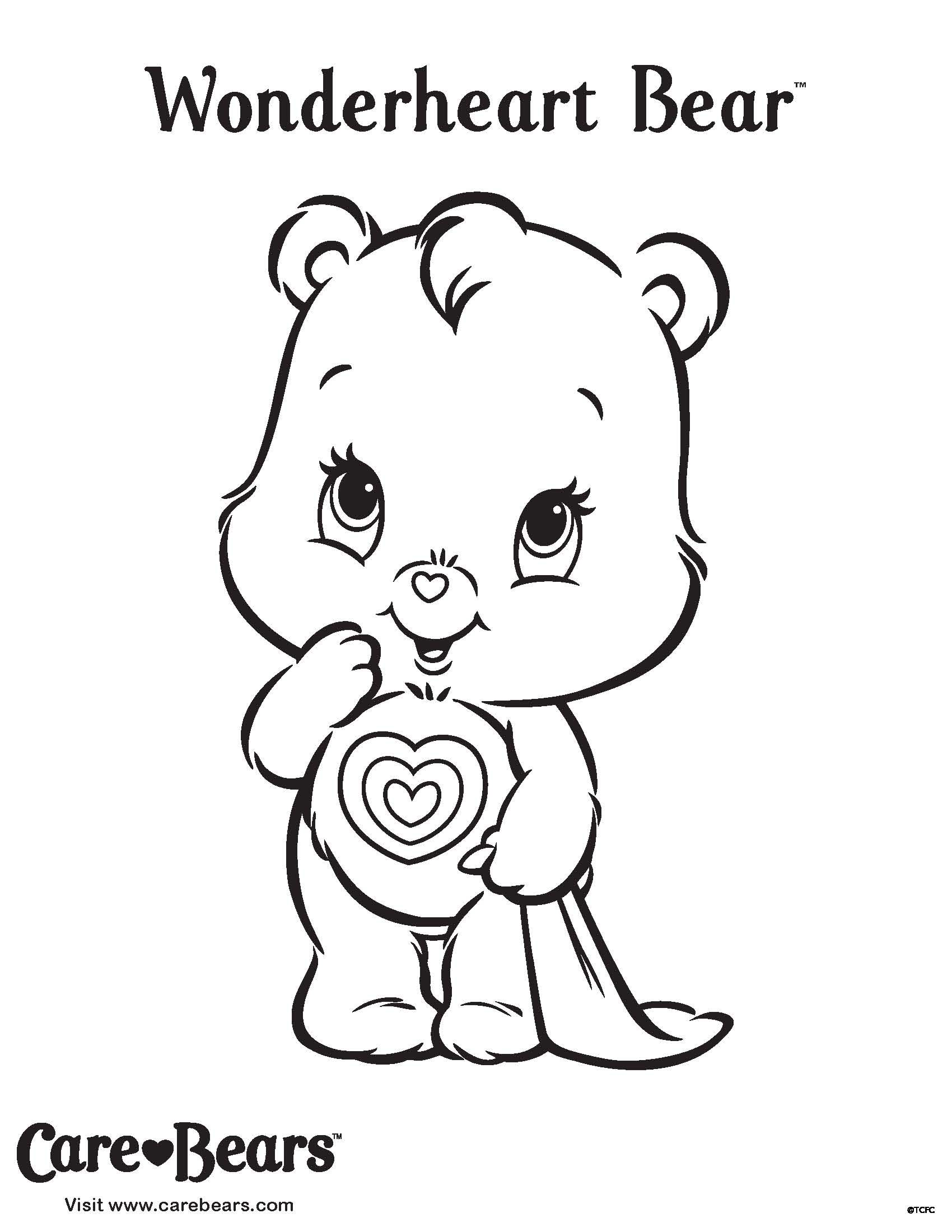 What Is Wonderheart Wondering? Bear Coloring Pages, Care Bears