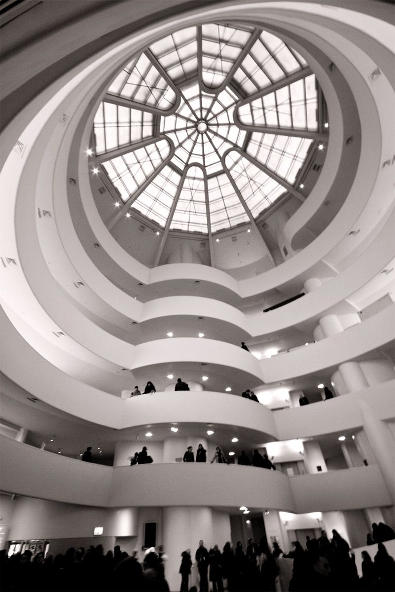 Guggenheim Museum Ceiling Skylight By Frank Lloyd Wright Was The Last Major Project Designed And Built By Wr New York Museums Architecture Guggenheim Museum