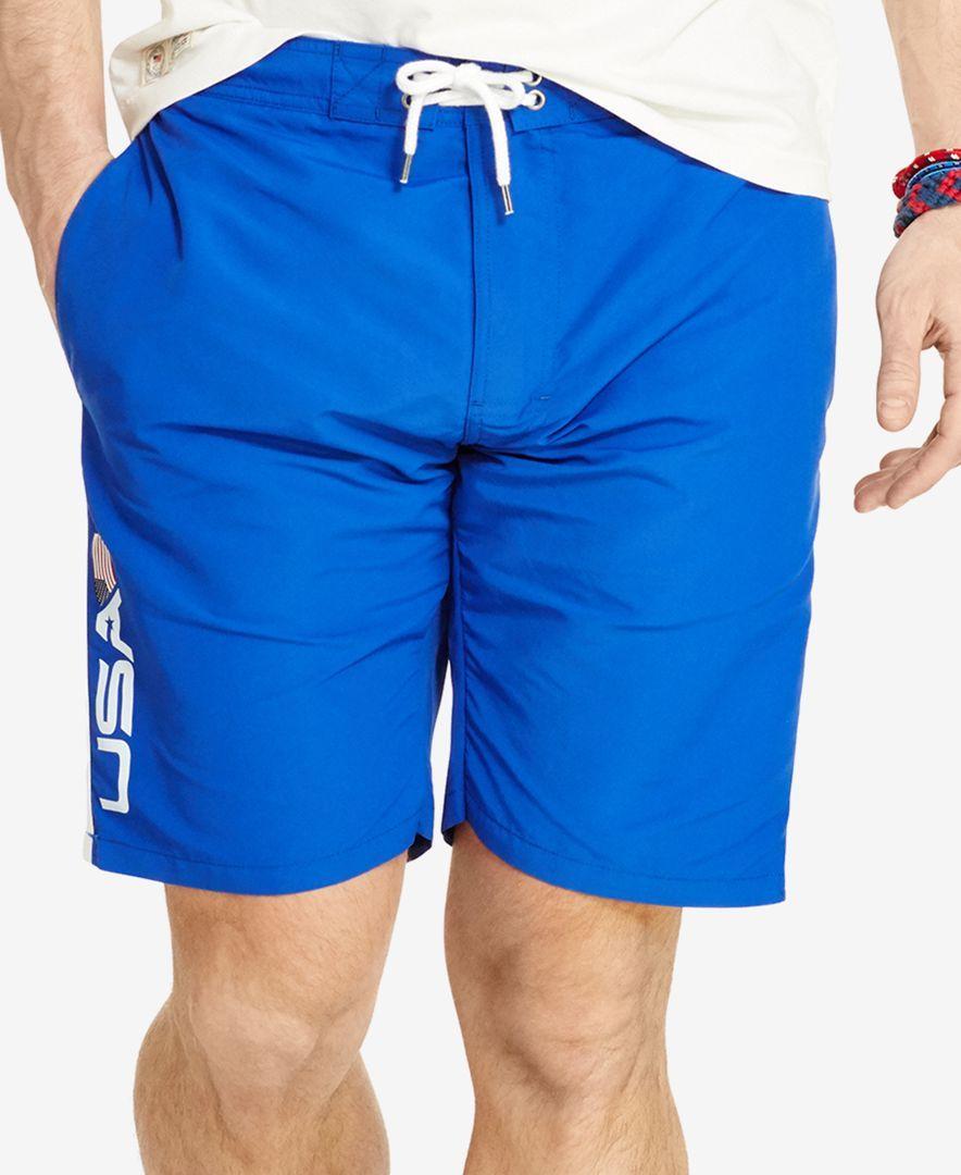 b123e04dd7 ... ireland polo ralph lauren team usa swim trunks swimwear men macys bac46  1f453