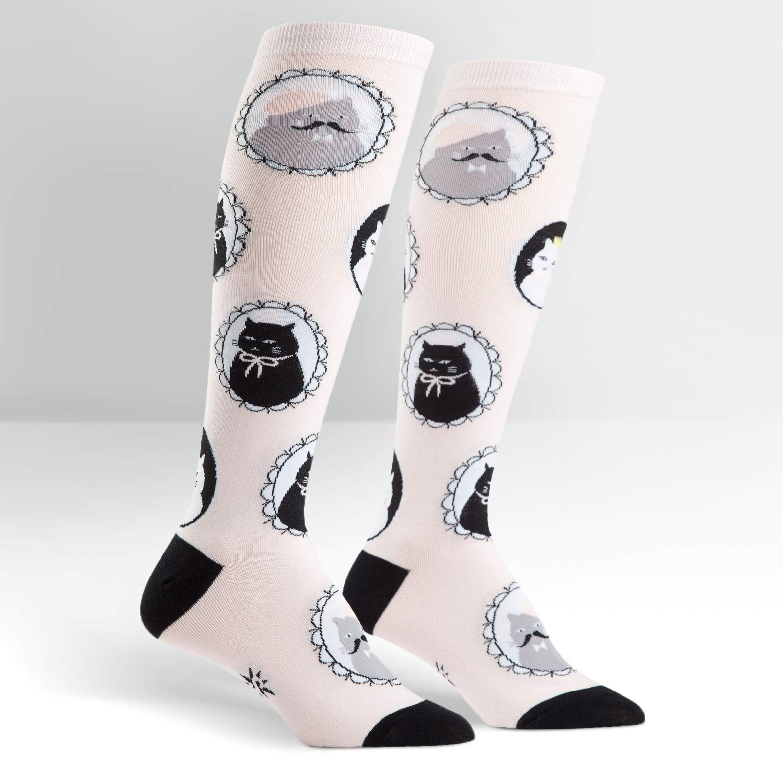 "SALE NEW SOCK IT TO ME Pink /""CAMEOW/"" Women Knee High Socks"