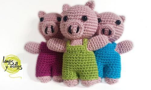 tres cerditos amigurumi patron gratis crochet | Amigurumis ...