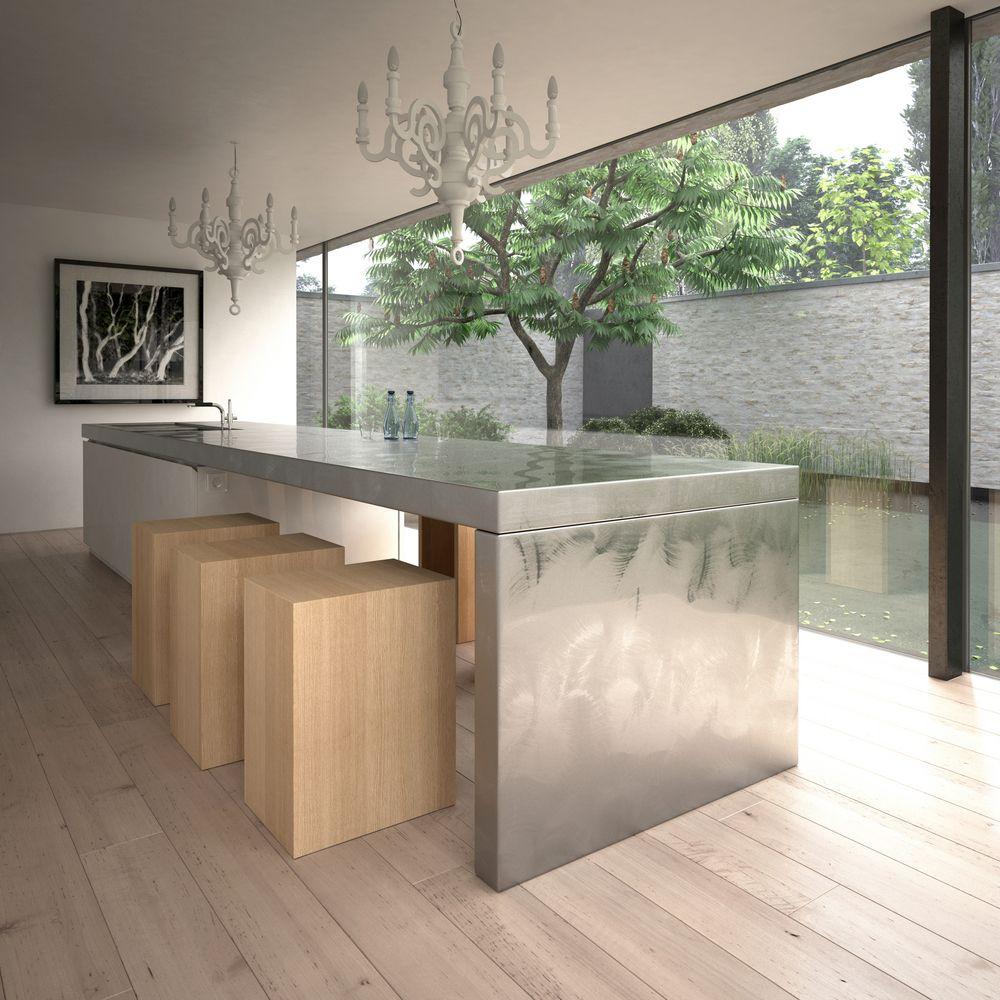 Unique Stainless Steel Kitchen Island Design Idea. See 64 More Kitchen  Island Design Ideas At