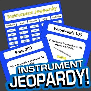 instrument jeopardy | instruments, elementary music and music, Powerpoint templates