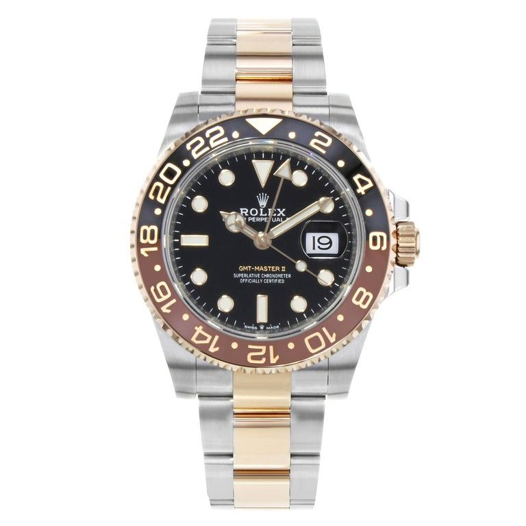 Rolex - Gmt-Master Ii 126711 Rootbeer Two-Tone Rose Gold Automatic Watch Steel #rolexgmtmaster