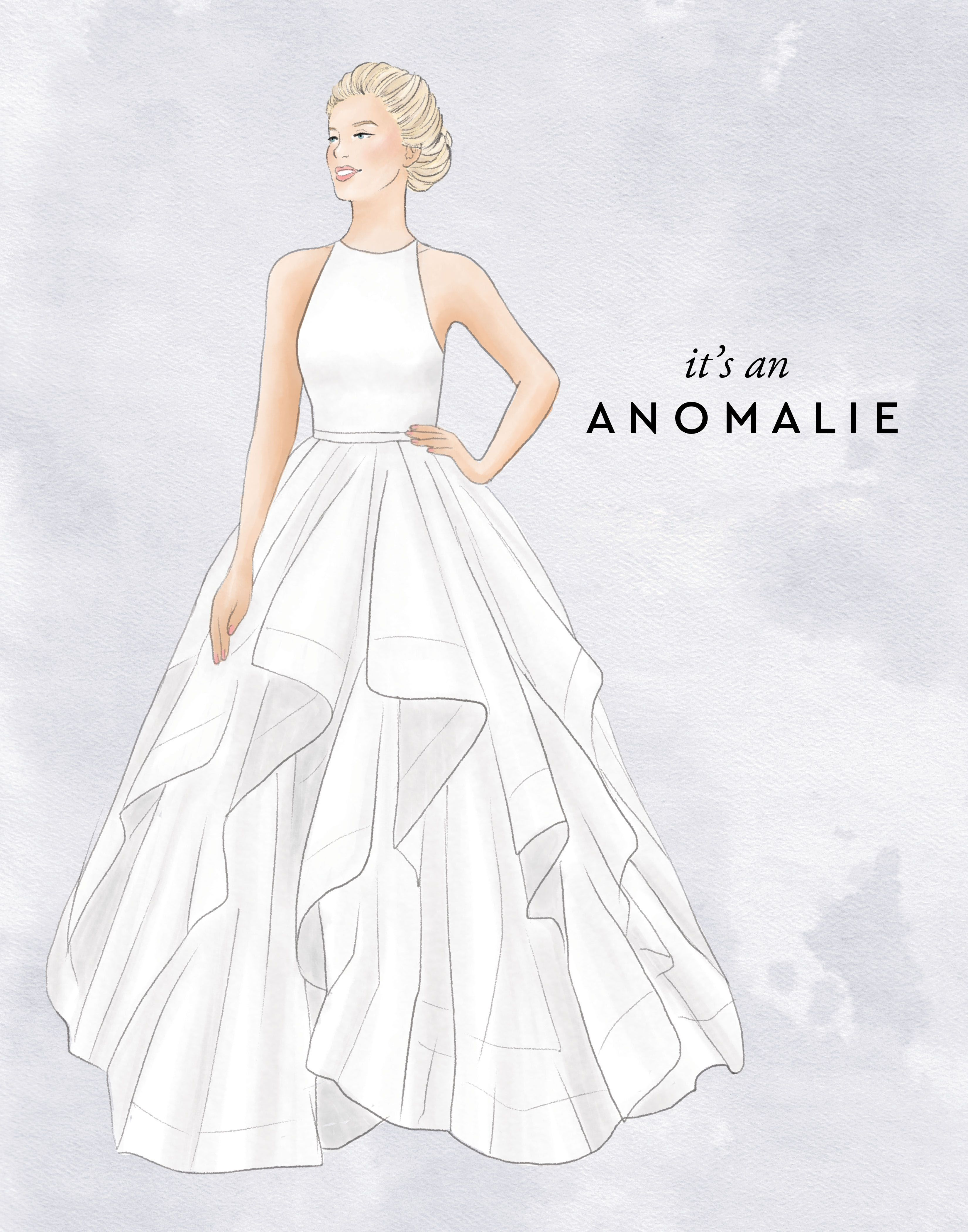 It S An Anomalie Custom Wedding Dress Sketch For One Of Our Anomalie Brides Fashion Sketches Dresses Fashion Drawing Dresses Wedding Dress Sketches