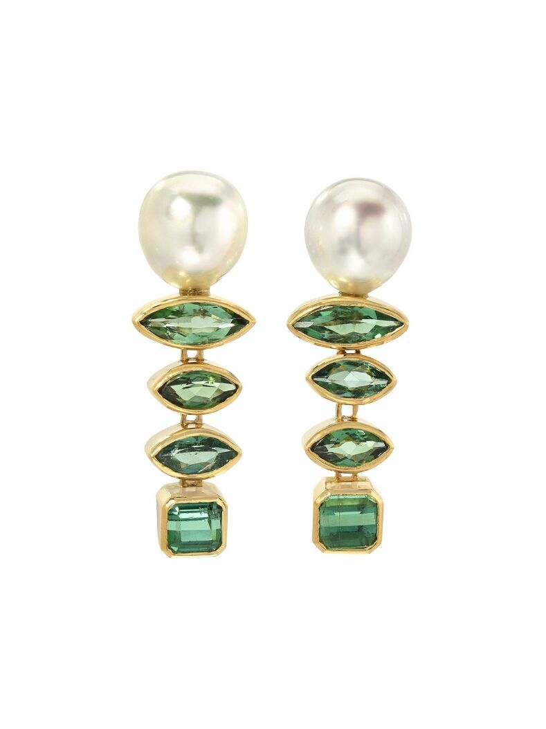 Retrouvai Gypsy Mixed Stone Pearl Earrings Vj4vzy