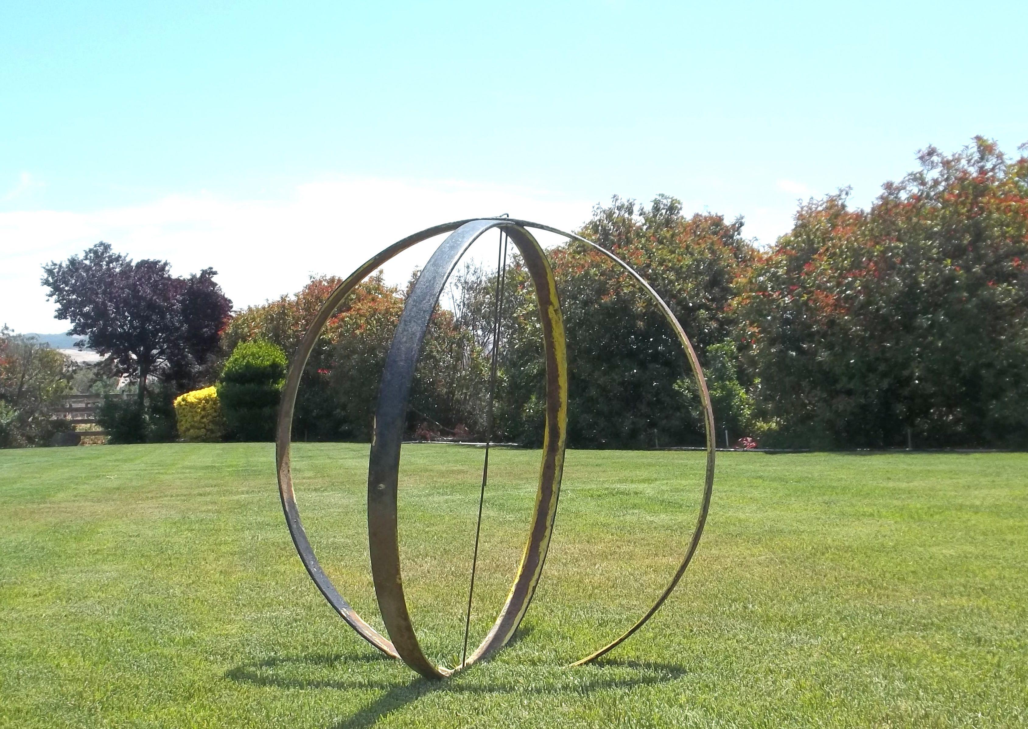 Metal Sculptures For Sale Large Metal Sphere Orb Garden