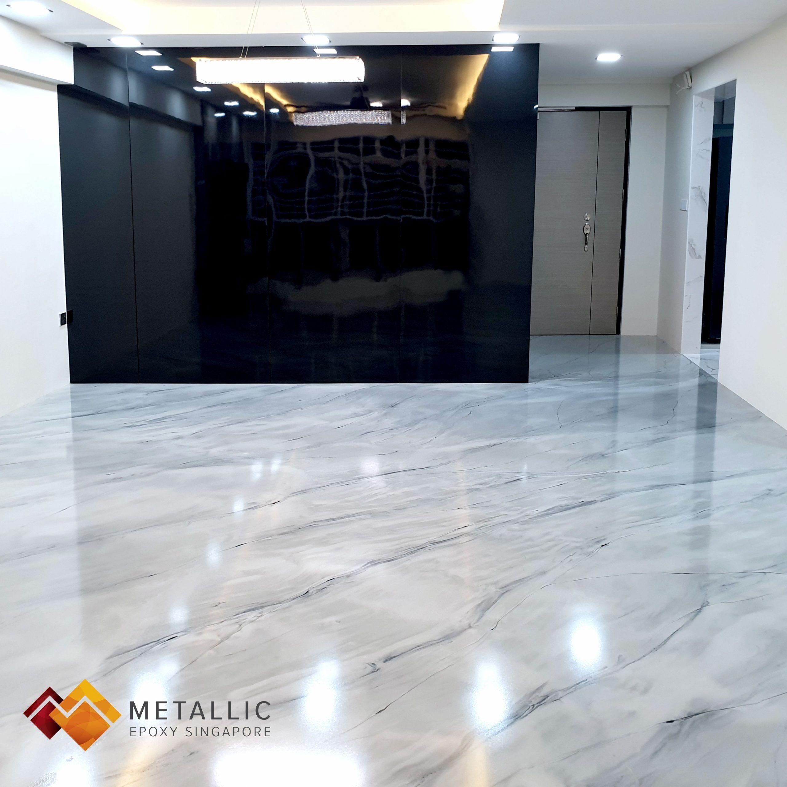 Metallic Epoxy Singapore Grey Mixed Marble Theme Wohnzimmer Boden Epoxy Boden In 2020 Room Flooring Living Room Flooring