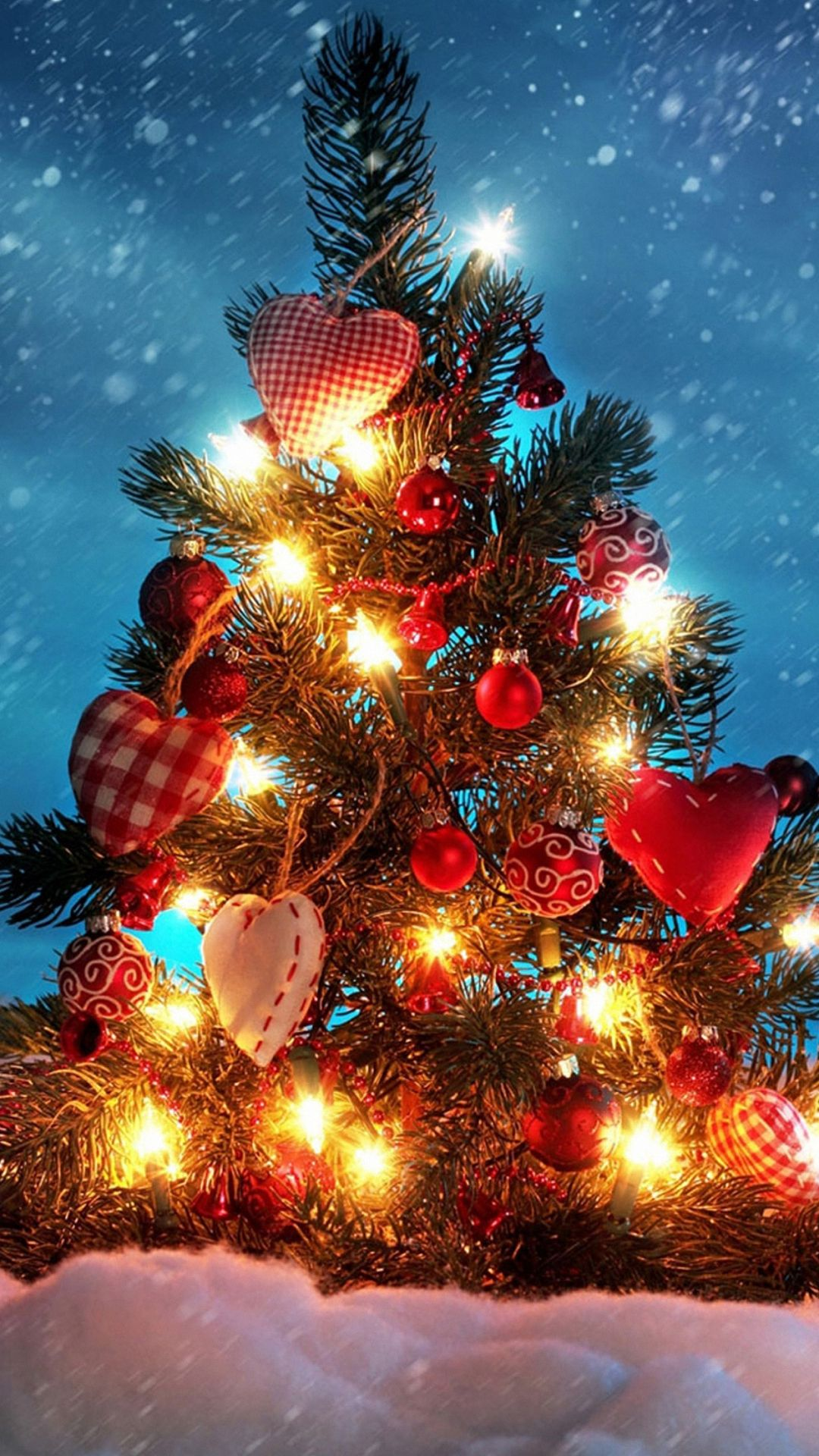 christmas tree heart love decorations iphone 6 wallpapers hd
