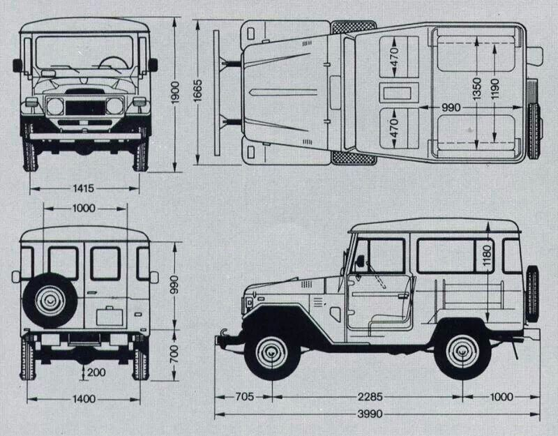 Bj40 Blueprint Bejota40 Pinterest Toyota Land Cruiser And Toyota Land Cruiser