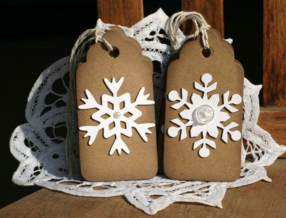 Christmas Gift Tags Set of 6 Holiday gift tags by designstudioL