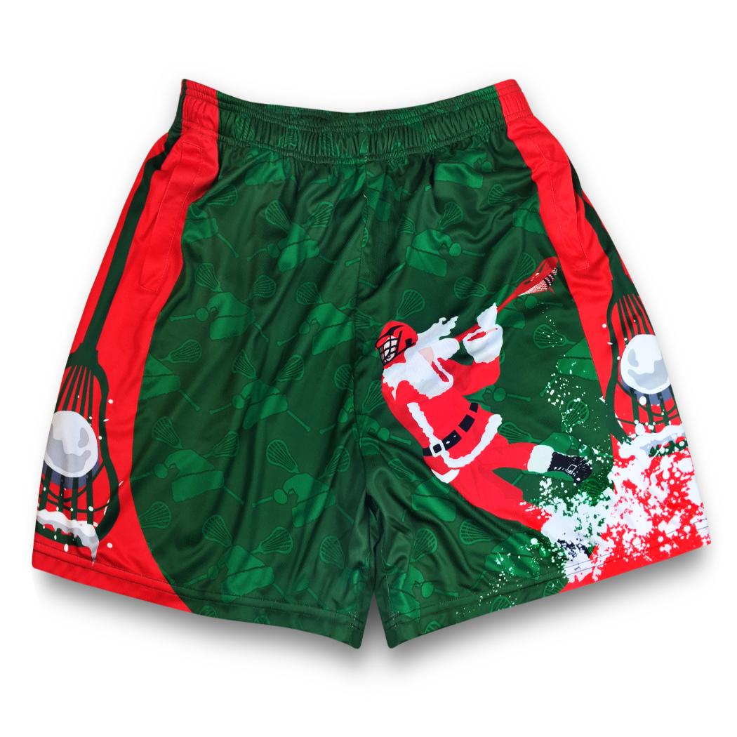 dfb0ba6bd3 Santa Laxer Christmas Lacrosse Shorts | Lacrosse | Lacrosse, Gifts ...