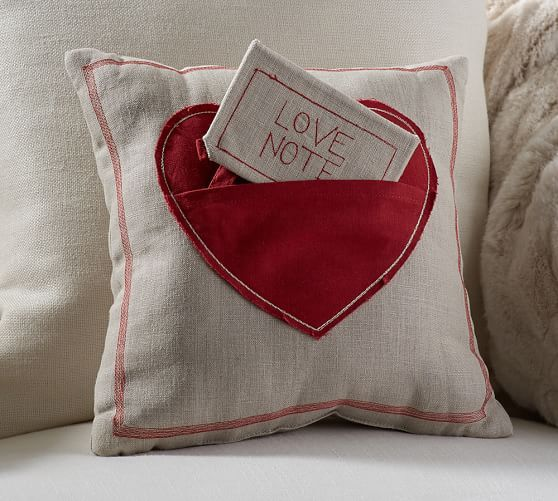 Love Note Pillow Valentines Pillows Valentines Valentines Gifts For Her