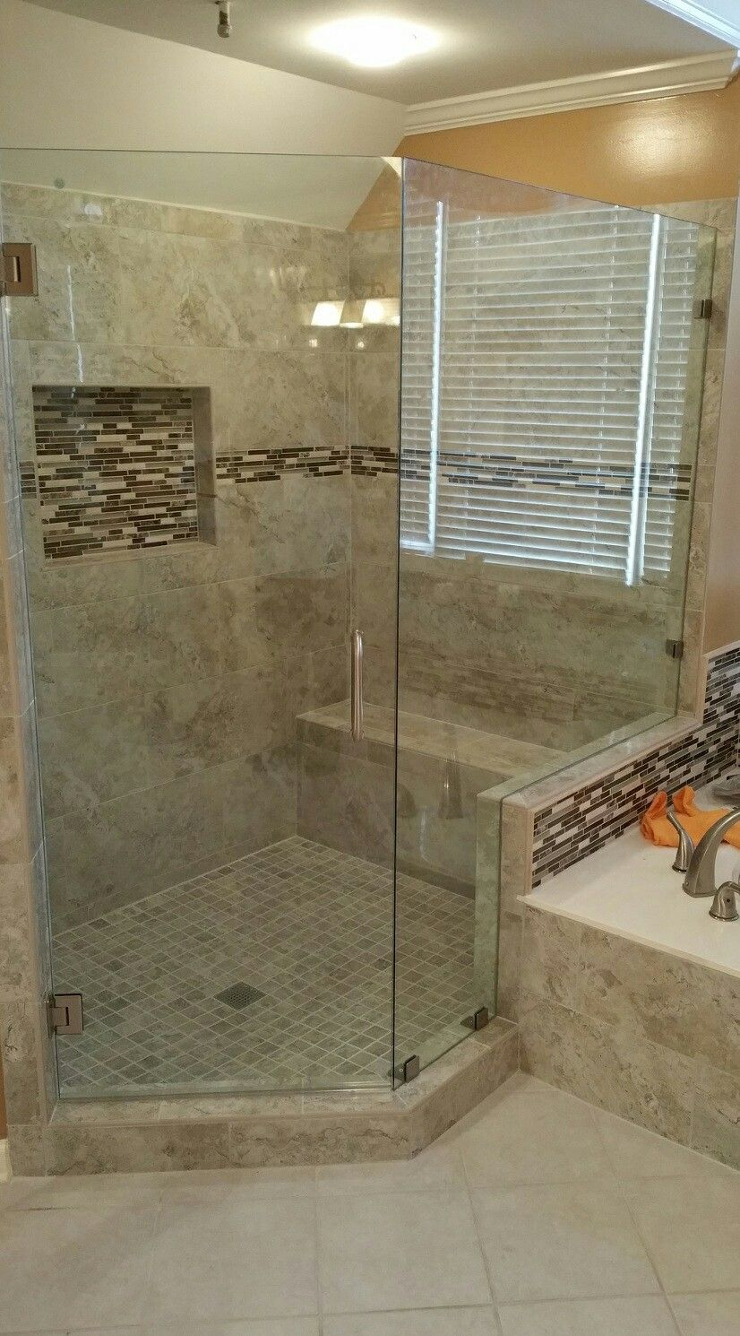 A Beautiful Frameless Shower Door Installed In Marietta Georgia If