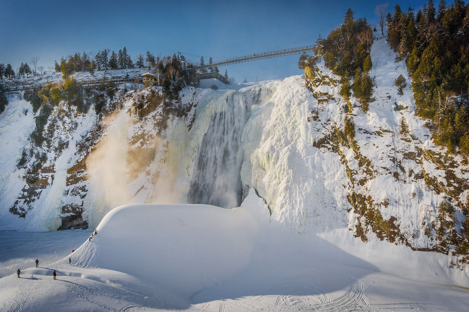 The frozen beauty of Montmorency Falls in Quebec City