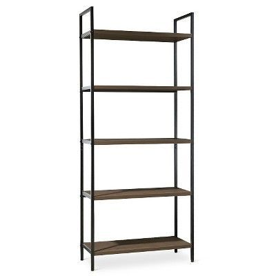 darley 5 shelf ladder bookcase walnut brown threshold rh pinterest com