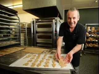 Expert tips ... baker Ben Sachse at his shop named The Village Baker with gingerbread coo