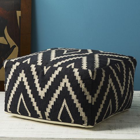 Kite Kilim Floor Pouf outdoor wicker is a... | Wicker Furniture  wickerparadise.com